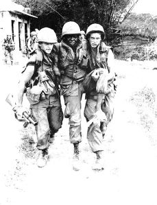 Pfc. Mauro, Pfc Carter, and SP4 Widmer (Carter shot himself in the foot during the My Lai massacre)