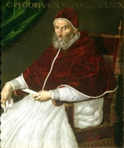 Pope Gregory XIII, portrait by Lavinia Fontana.Gregory_XIII