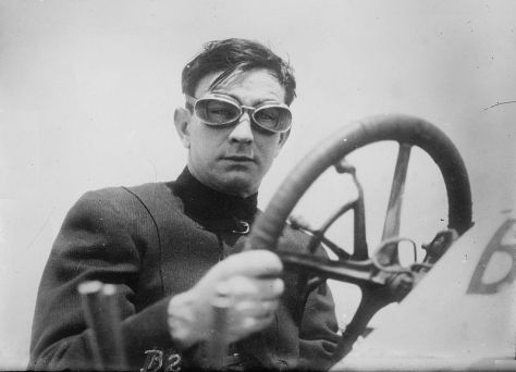 Photo of race car driver Bob Burman 25th May 1911