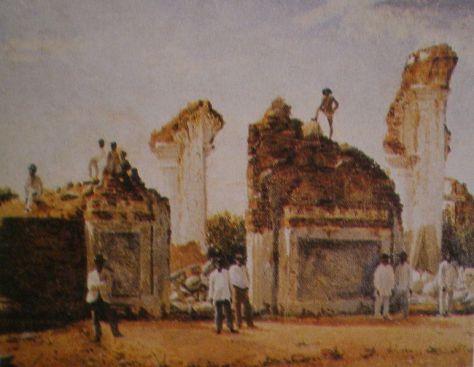 Ruinas de Cúa después del Terremoto de 1812 - Cristóbal Rojas 1812 Caracas Earthquake