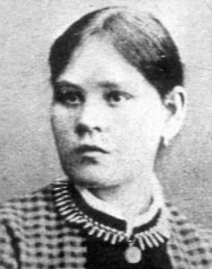 The murdered Hanna Johansdotter (1867-1889).