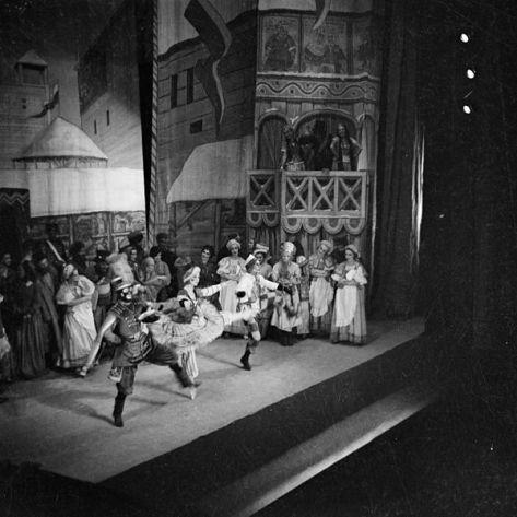 Danish ballerina Helene Kirsova in Petrouchka at the Theatre Royal. Australia, 11th January 1937.