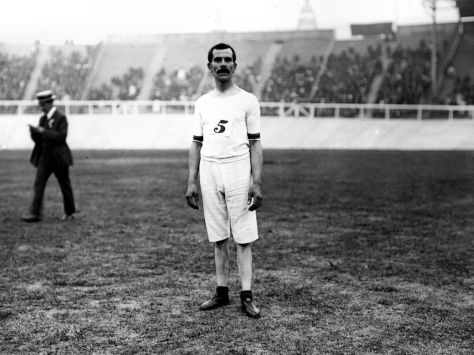 George Larner of Great Britain, winner of two gold medals at the 1908 London games.