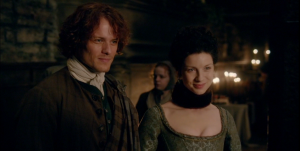 Jamie Claire Outlander 1x10 Sonya Heaney.