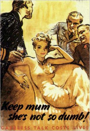 Misogynistic Sexist 1940s WW2 Poster British