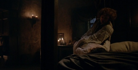 Outlander 1x09 The Reckoning Claire and Jamie Domestic Abuse Wife Beating 2 Sonya Heaney