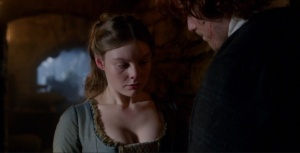 Outlander 1x09 The Reckoning Laoghaire and Jamie 2 Sonya Heaney