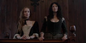 Outlander 1x11 Geillis Claire Trial Court Sonya Heaney