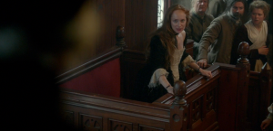 Outlander 1x11 Geillis Duncan Trial Court Sonya Heaney
