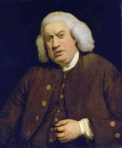Samuel Johnson c. 1772, painted by Sir Joshua Reynolds.