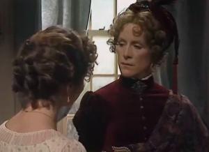 Pride and Prejudice 1980 Elizabeth bennet Lady Catherine de Bourgh