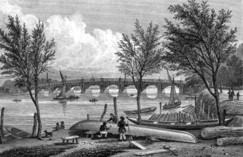 Vauxhall Bridge in 1829