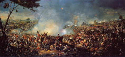 The Battle of Waterloo by Irish painter William Sadler II (1782–1839)