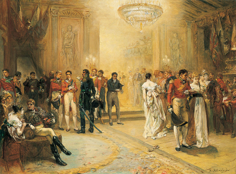 The Duchess of Richmonds famous ball was held in Brussels on the 15th of June 1815. The following day thousands would be slaughtered in the Battle of Quatre Bras.