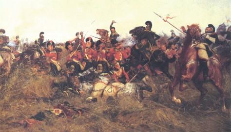 Wollen,_Battle_of_Quatre_BrasBlack Watch at the Battle of Quatre-Bras, 1815, by William Barnes Wollen (1857 - 1936).