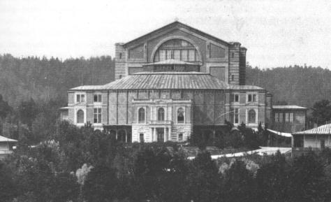 Bayreuth Festspielhaus, as seen in 1882