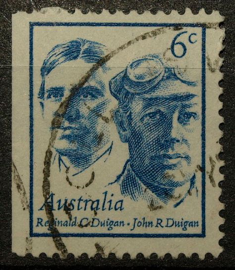 In 1970, brothers John and Reginald Duigan were honoured on a postage stamp issued by Australia Post