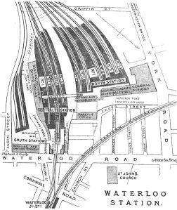 Plan of Waterloo Station as it was in 1888.