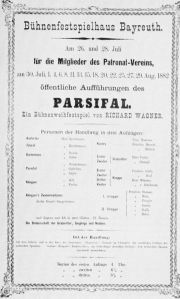 Poster for the premiere production of Parsifal - 1882360px-Parsifal-affisch