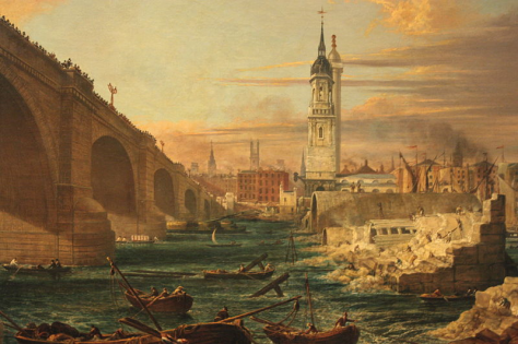 The Demolition of Old London Bridge, 1832, Guildhall Gallery, London.