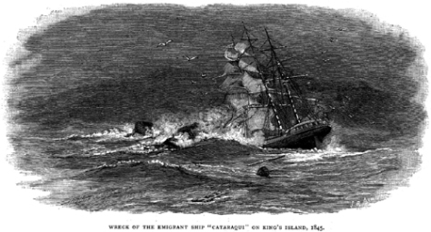 Cataraqui_wreck.The 4th of August, 1845 was the date of the deadliest ship sinking in Australia's history. The British barque Cataraqui