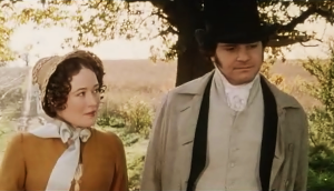 Elizabeth Bennet and Mr Darcy Pride and Prejudice 1995 Episode Six Final Proposal Scene Sonya Heaney BBC