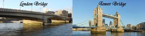 London Bridge and Tower Bridge