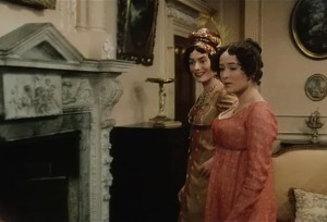 Miss Bingley and Elizabeth Bennet Pride and Prejudice 1995 Sonya Heaney BBC Episode One