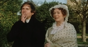 Mr Collins and Mrs Bennet Pride and Prejudice 1995 Sonya Heaney BBC