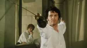 Mr Darcy Colin Firth Pride and Prejudice Fencing 1995 BBC Sonya Heaney