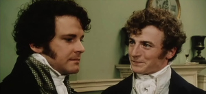 Mr Darcy Mr Bingley Pride and Prejudice 1995 Epriode One BBC Sonya Heaney