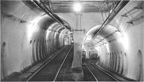 The Tremont Street Subway in Boston's MBTA subway system is the oldest subway tunnel in North America Pleasant_Street_Incline_junction