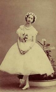 Emma Livry in the title role of the Taglioni-Schneitzhoeffer La Sylphide. Paris, 1862.
