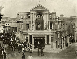 The burnt out Theatre Royal of 1887