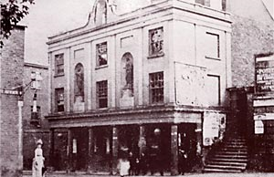 The first Theatre Royal that was destroyed in 1885..
