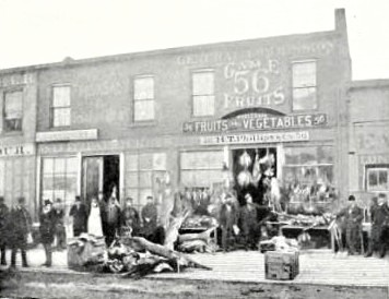 ThePassengerPigeon1T. Phillips' Store, a typical game store of the 1870s.