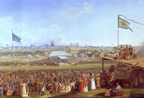 Adam_Pferderennen_Oktoberfest_1823Heinrich Adam Das Pferderennen auf dem Münchner Oktoberfest circa 1823.