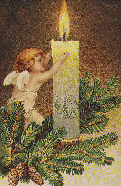 Glædelig Jul, ca 1906. Christmas Card.