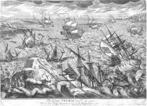 Great_Storm_1703_Goodwin_Sands_engravingGreat Storm of 1703