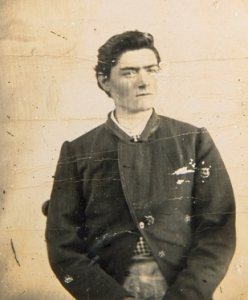 Ned Kelly, aged fifteen, photographed in 1871 at Kyneton, Victoria.