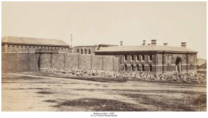 Old-Melbourne-Gaol-in 1861