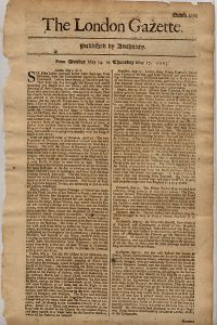 The London Gazette, dated 14 May 1705.