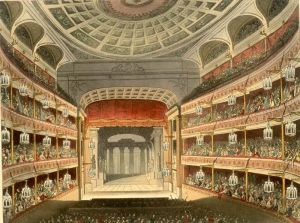 The Theatre Royal, Covent Garden in 1810.