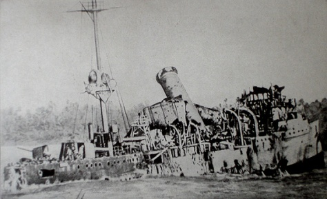 The wreck of SMS Emden.