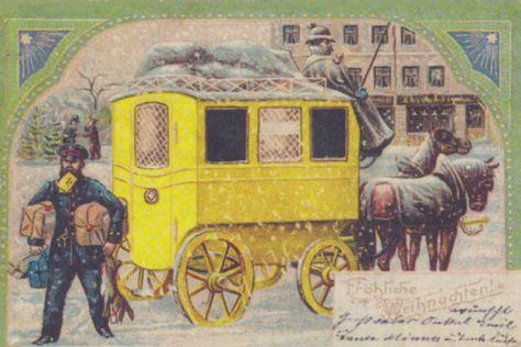 Weihnachtskarte 1904 German Christmas Card