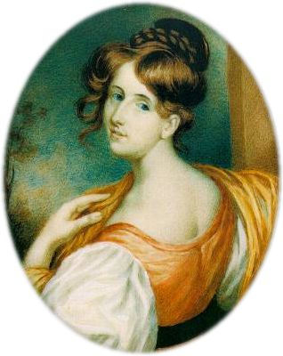 1832 portrait of English writer and biographer Elizabeth Gaskell (1810-65)