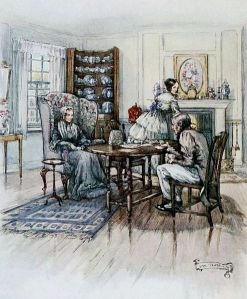 Miss Matty and her brother Peter from Cranford by Elizabeth Gaskell 1917