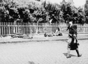 Starved peasants on a street in Kharkiv, 1933.