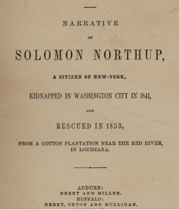 12 Years a Slave title page.