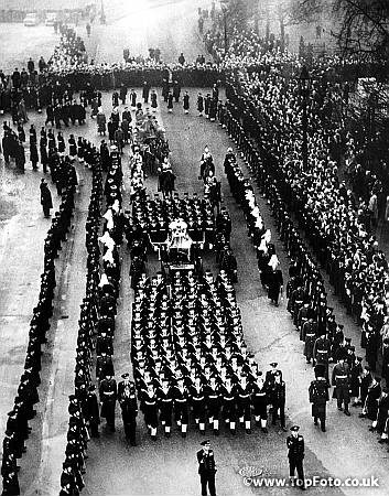 15th February 1952 the funeral procession of King George VI